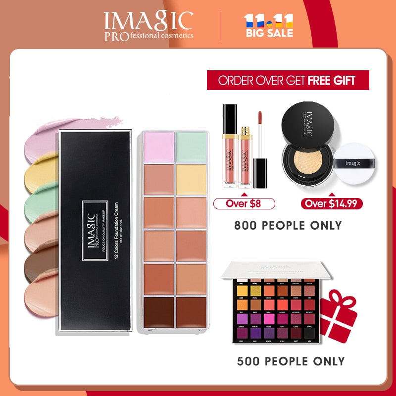 IMAGIC 12-color Concealer Palette Makeup Dark Circles Acne - BeautyForTen