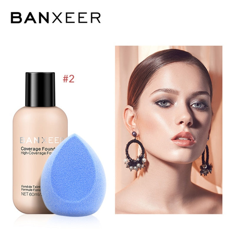 BANXEER Brand Face Makeup Set Cosmetics Soponge Full Coverage - BeautyForTen