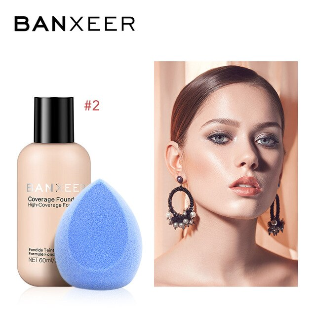 BANXEER Brand Face Makeup Set Cosmetics Soponge Full Coverage