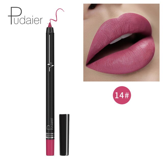 Pudaier lip makeup matte lip liner pencil waterpoof - BeautyForTen