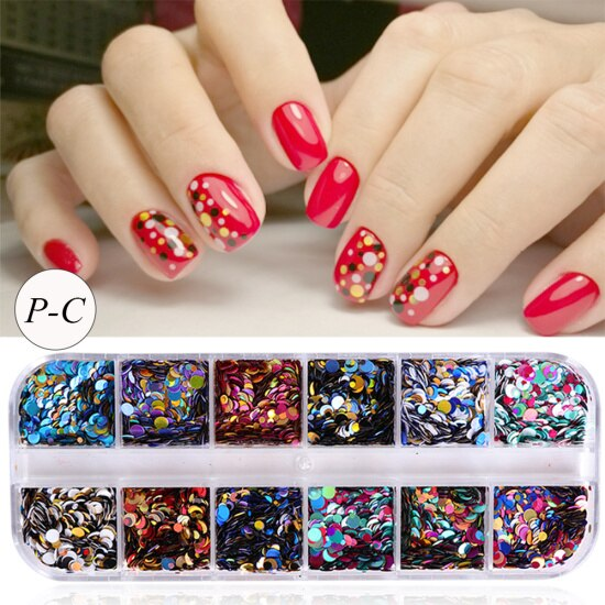 1 Set Colorful Ultrathin Sequins Nail Glitter