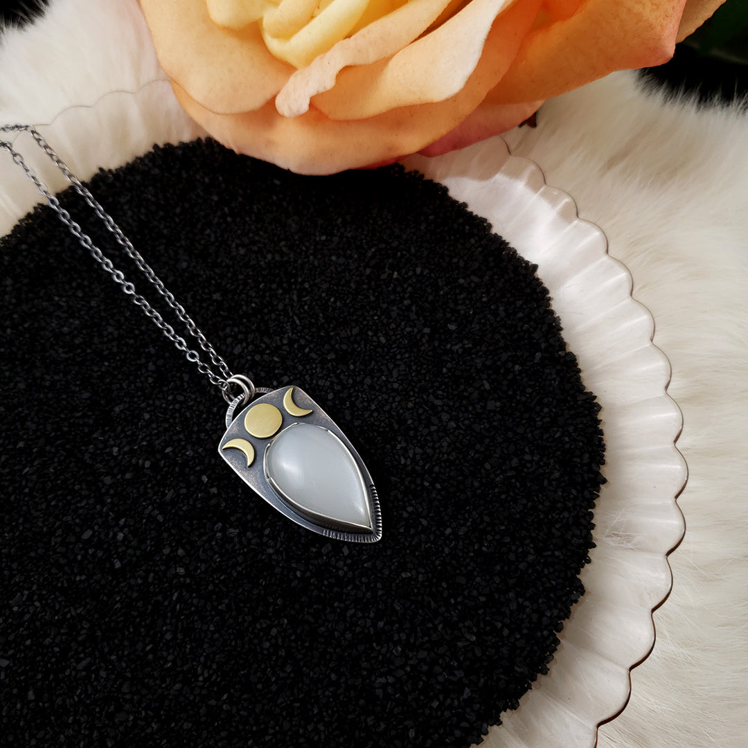 Lyra Moonphase Necklace - PICK YOUR STONE