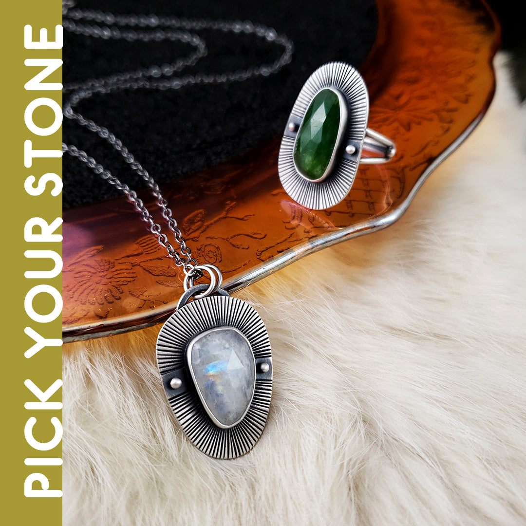 Dark Skies - Themis Necklace or Ring - PICK YOUR STONE