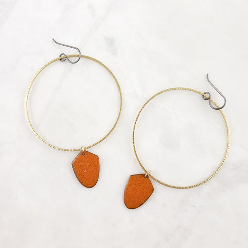*NEW* Enamel Collection - Bek Earrings in Rust