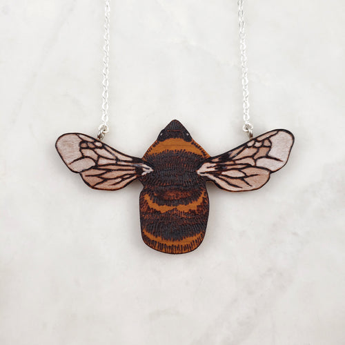 Wooden Necklace - Bumblebee