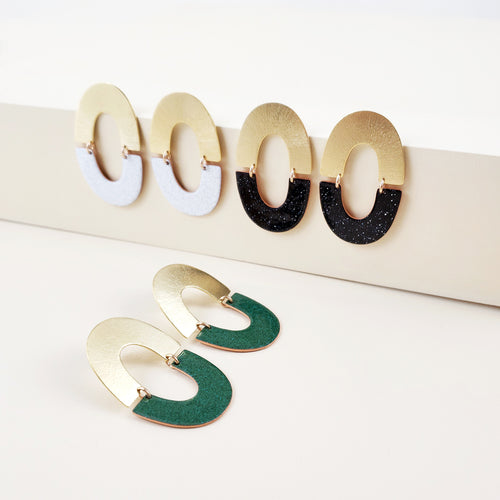 Enamel Collection - DAWN Post Earrings