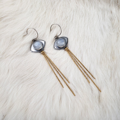 Dark Skies - Gemini Eye Earrings - PICK YOUR STONES