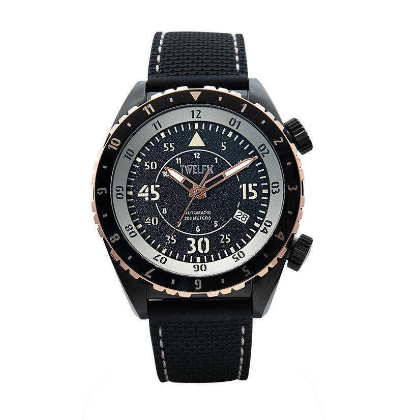 SKY 1914 AUTO FLYER - BLACK/ROSE GOLD (5005) - Wrist Check Monthly