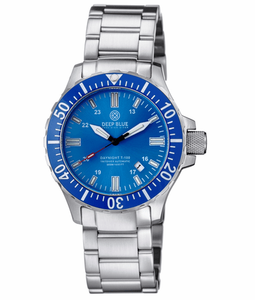 DAYNIGHT 45 TRITDIVER T-100 AUTOMATIC BLUE BEZEL – LIGHT BLUE DIAL - Wrist Check Monthly