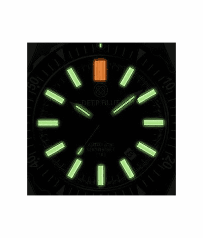 DAYNIGHT MIL T100 TRITIUM GREEN FLAT TUBES - BLACK DIAL - Wrist Check Monthly