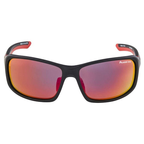 Alpina Lyron Glasses Black Red Mirror Red Lens