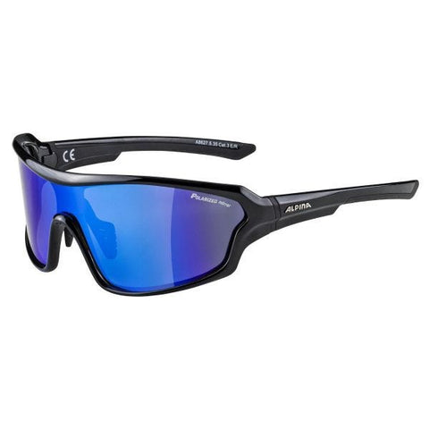 Imatge de les ulleres Alpina Lyron Shield Black Mirror Blue Lens
