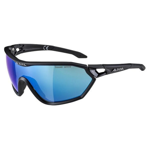Imatge de les ulleres Alpina S-Way L CM + Black Mirror Blue Lens