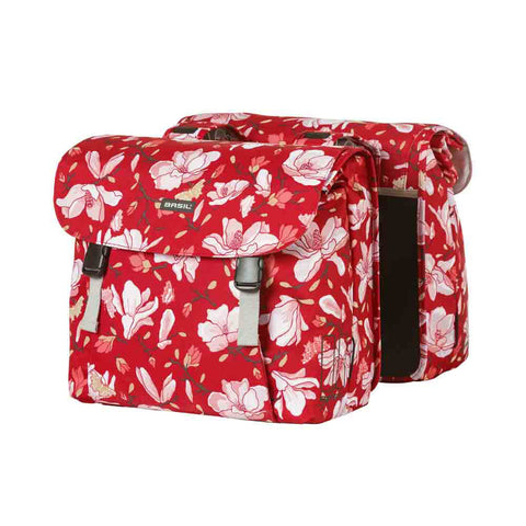 Image of Basil Magnolia Double Bicycle Pannier Bag