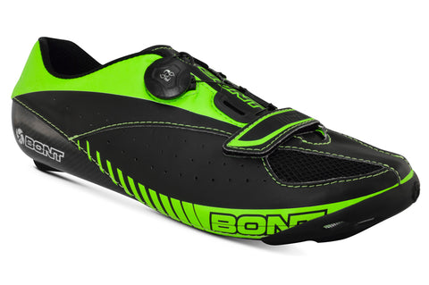 Image of Bont Blitz Road Cycling Shoes - Black Green
