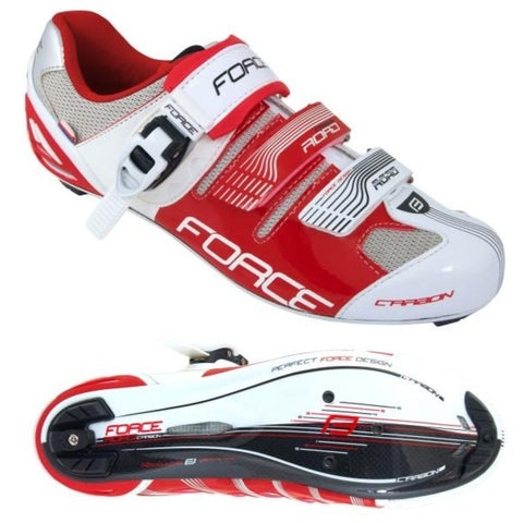Force Road Carbon Road Shoes - Wit / Rooi