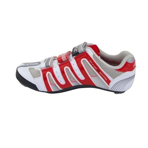 Zapatillas de ciclismo de carretera Force - Blanco rojo