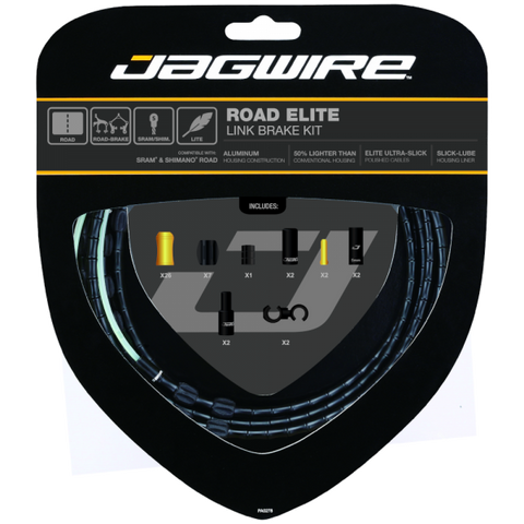 Jagwire Road Elite Link Brake Cable Kit Black