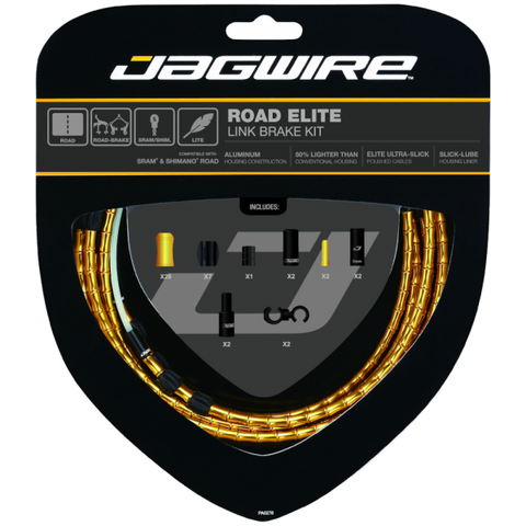 Jagwire Road Elite Link Brake Cable Kit Gold