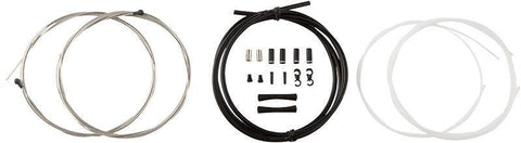 Kit de cables de frens segellats Jagwire Road Elite - Vermell