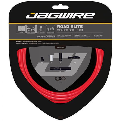 Bild von Jagwire Road Elite Sealed Brake Cable Kit - Rot