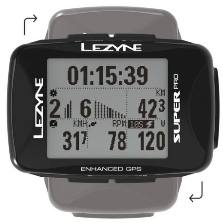 Image of LEZYNE Super Pro GPS Cycling Computer