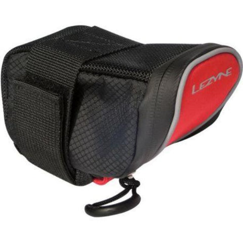 Lezyne Micro Caddy M Saddle Bag - Red and Black