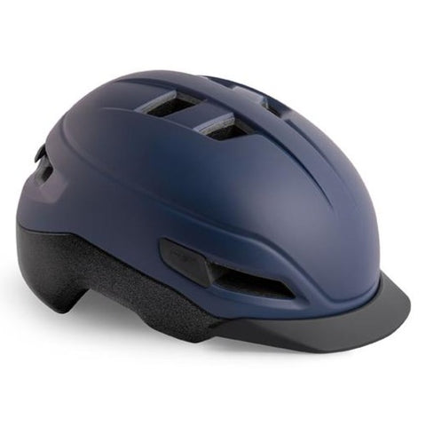 MET Grancorso E-Bike Urban Bike Helm Deep Blue Reflect