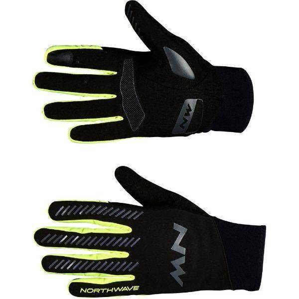Guants de ciclisme Northwave Core Black Yellow Flou - oneillscyclestore