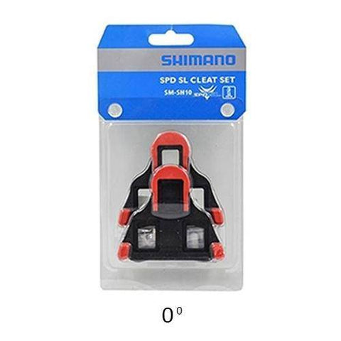 Image of Shimano SH10 Road SPD-SL Cleats - Red - oneillscyclestore