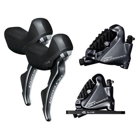 Shimano Ultegra R8020 Hydraulic Mechanical STI / R8070 Hydraulic Disc Di2 STI Set and Flat Mount Caliper Set - oneillscyclestore