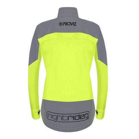 Image of Proviz Nightrider New Jacket Ladies Waterproof Yellow