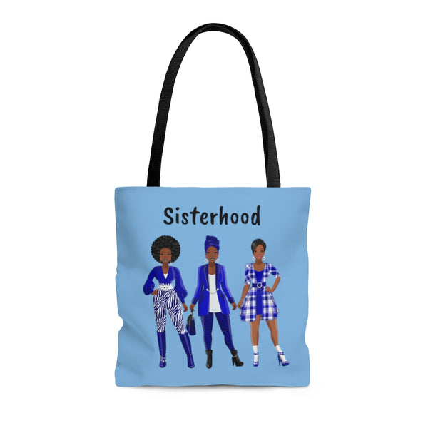 Blue & White Tote Bag