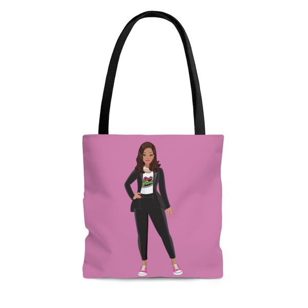 Madame VP - Chucks & Pearls Pink Tote (Pink & Green)