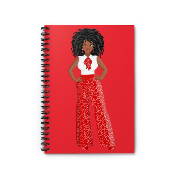 Red & White Spiral Notebook - Ruled Line