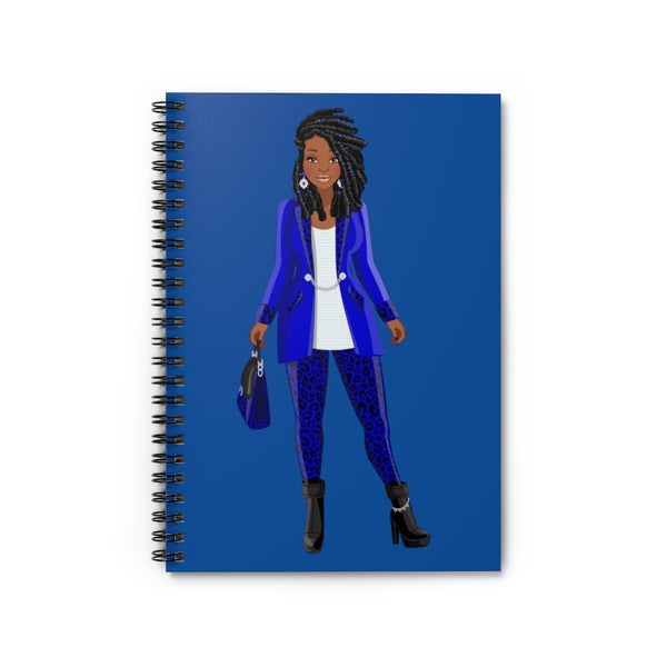 Blue & White Spiral Notebook - Ruled Line