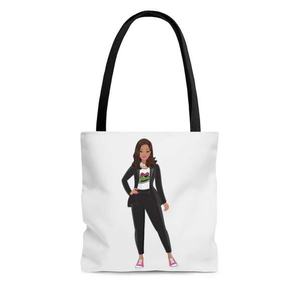 Madame VP - Chucks & Pearls Tote (Pink & Green)