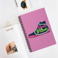 Madame VP  Chucks & Pearls- Pink Ruled Line Notebook -  Pink & Green Chuck