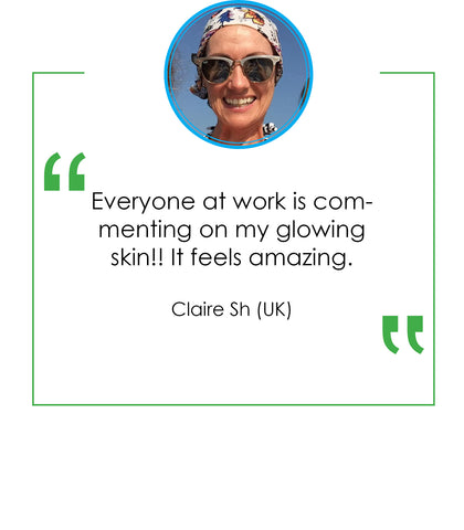 Claire Sharky Emoly Product testimonial