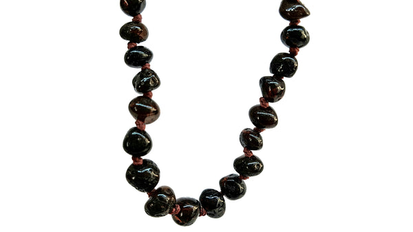Baltic Amber Necklace - Round beads cherry color SM