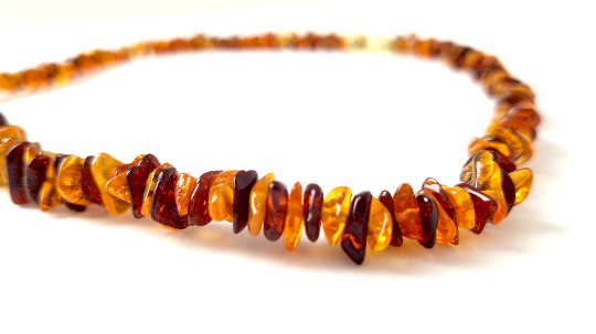Certified Baltic Amber Necklace - Adult size - multicoloured A