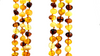 Baltic Amber Necklace - Round beads mix color SM