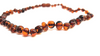 Baltic Amber Necklace - Round beads cognac color SM