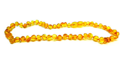 Baltic Amber Necklace - Round beads lemon color SM