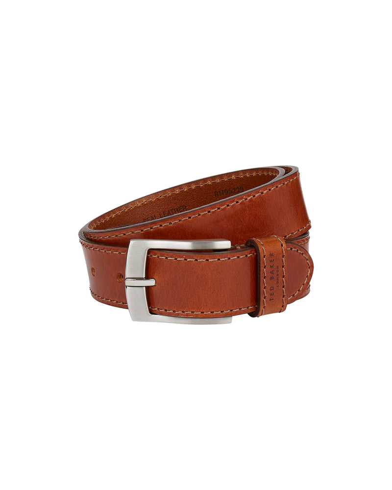 Dagen Stitch Detail Leather Belt (6173002629296)