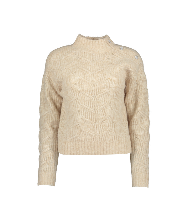 Taliiey Chunky Cable Button Detail Sweater