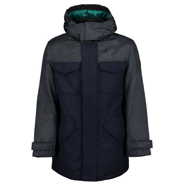 Recycled Wool Blend Padded Jacket