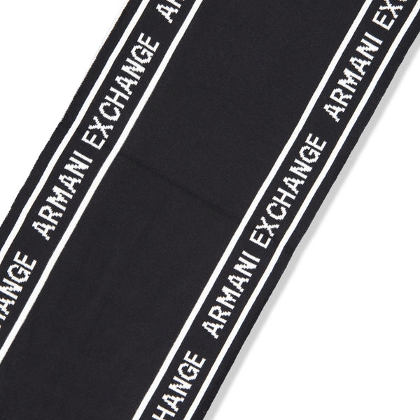 Logo-Knit Rectangular Scarf
