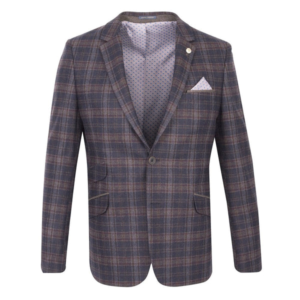 Tapered Check Jacket
