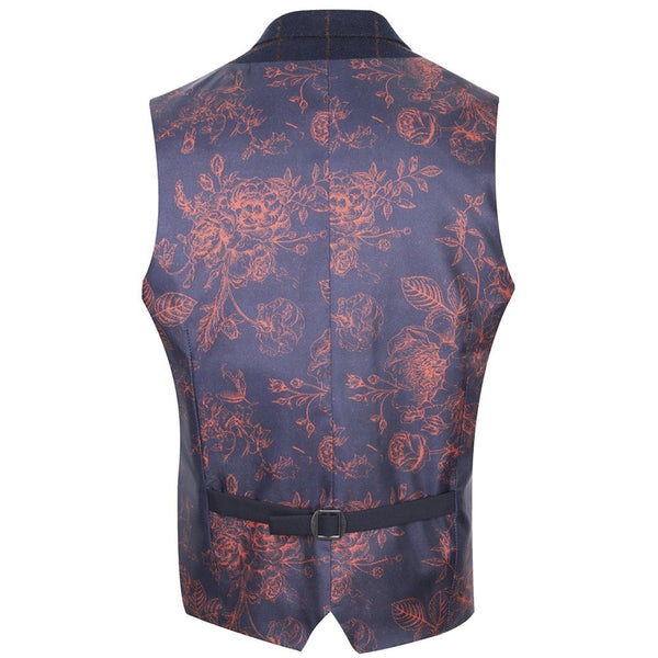 Floral Check Waistcoat